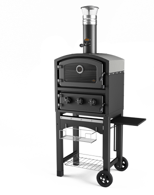 טאבון בסגנון איטלקי Fornetto- שחור