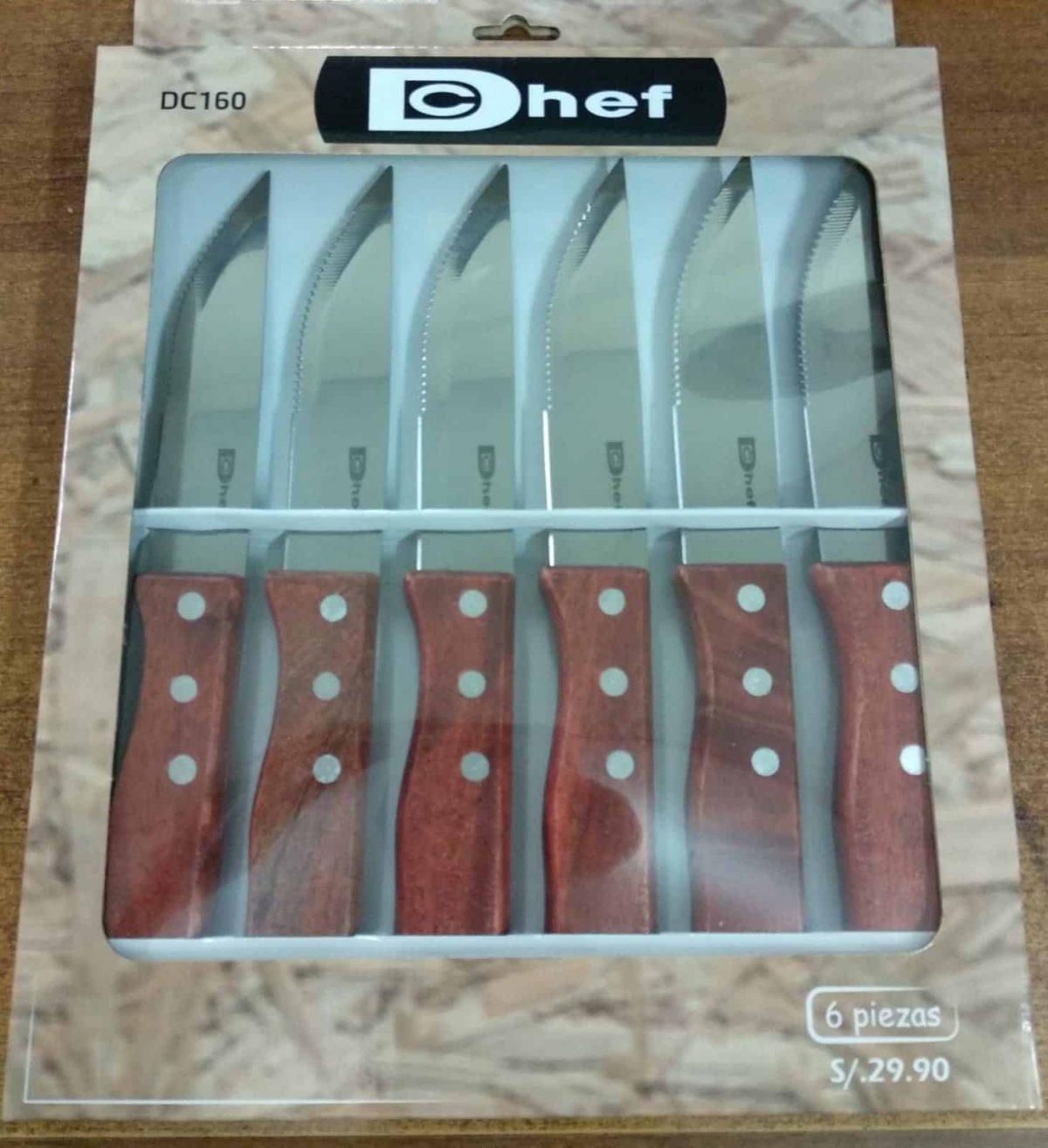 סט 6 סכיני סטייק דישף